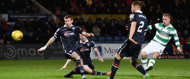 Leigh Griffiths scores for Celtic against Ross County