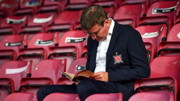 Stephen Kenny reads the programme