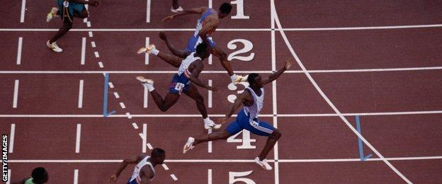 Linford Christie wins Olympic gold