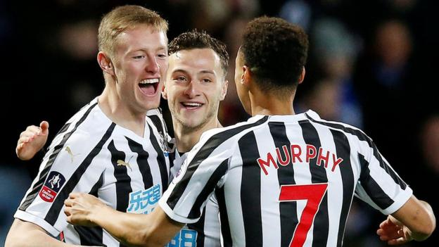 Blackburn 2-4 Newcastle: Rafael Benitez's side win in FA Cup third-round replay thumbnail