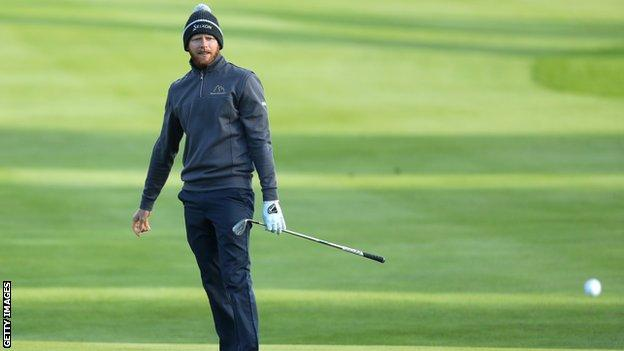 Sebastian Soderberg fired a four-under-par 74 in the first round at Galgorm Castle
