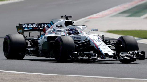 Lance Stroll in action for Wiliams