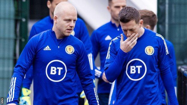 Scotland's Steven Naismith and Callum McGregor
