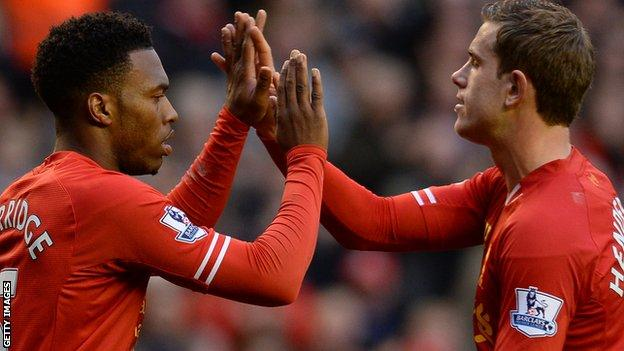 Daniel Sturridge (left) and Jordan Henderson
