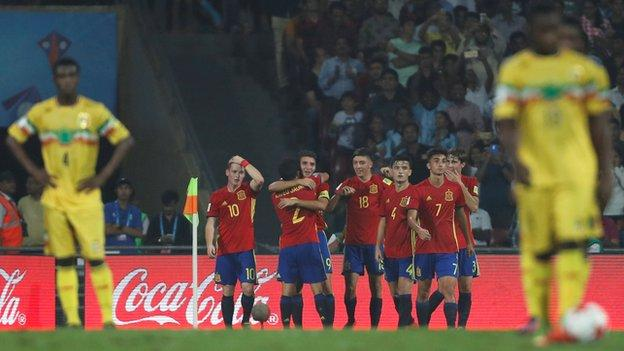 Mali lost 3-1 to Spain in the Under-17 World Cup