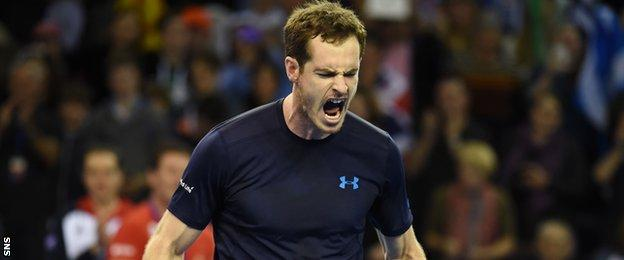 Andy Murray is looking forward to playing in Glasgow in the Davis Cup