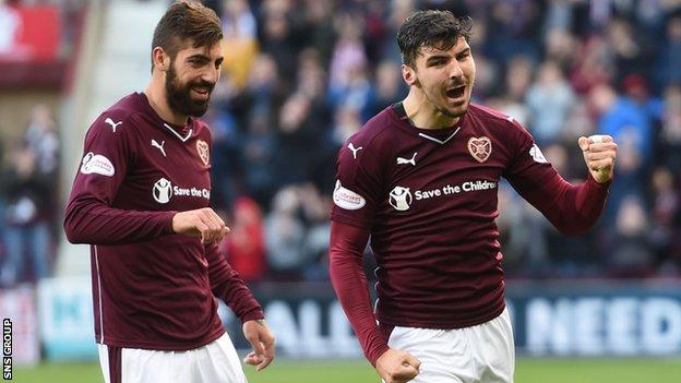 Callum Paterson scored with a fantastic first-half shot at Tynecastle