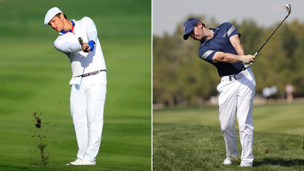 Bryson DeChambeau & Rory McIlroy swings