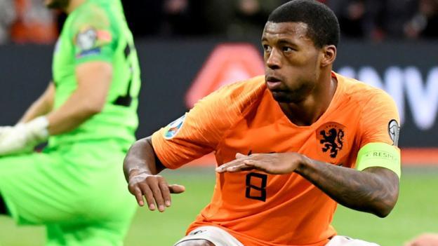 Netherlands 5-0 Estonia: Wijnaldum hat-trick as Dutch thrash Estonia