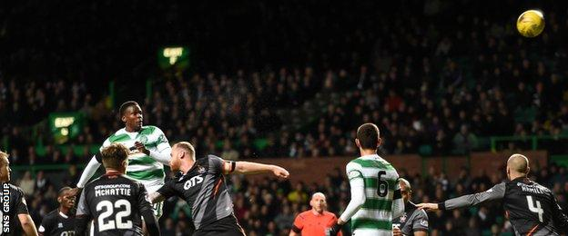 Dedryk Boyata's late header was touched on to the crossbar
