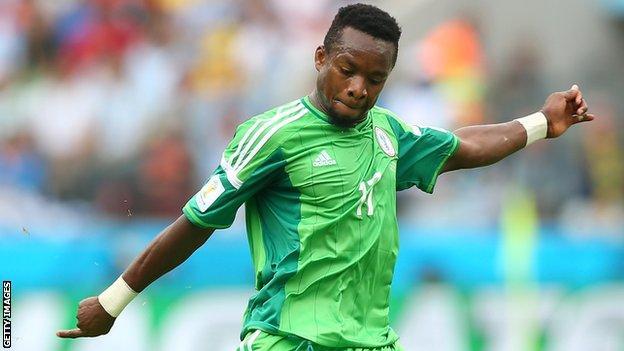Nigeria midfielder Ogenyi Onazi