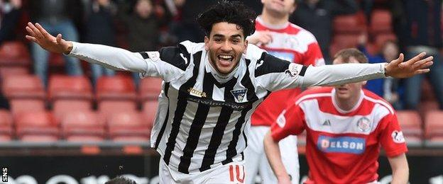 Dunfermline Athletic forward Faissal El Bakhtaoui