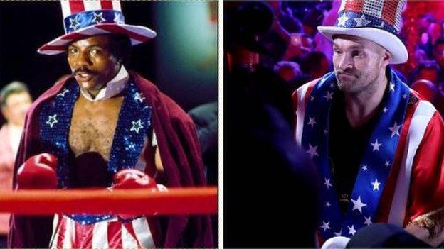 Apollo Creed and Tyson Fury