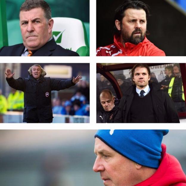 Mark McGhee, Paul Hartley, Lee Clark, Robbie Neilson, Mark Warburton