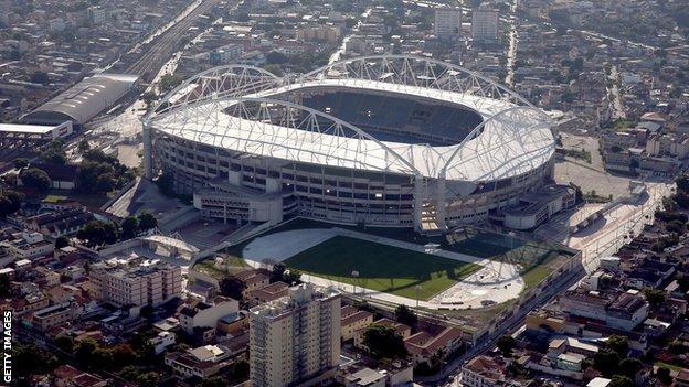 The Olympic Stadium in Rio de Janeiro