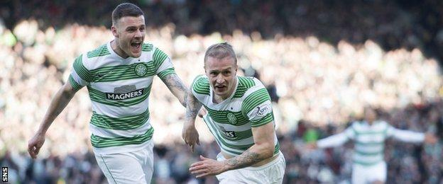 Anthony Stokes (left) and Leigh Griffiths