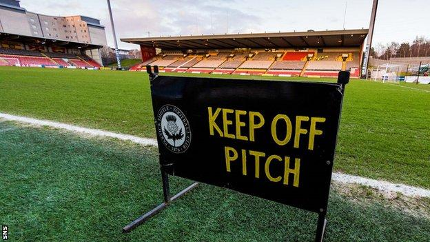 Firhill pitch