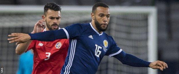 Matt Phillips in action for Scotland against Costa Rica