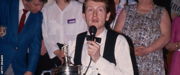 Steve Davis with the World Championship trophy