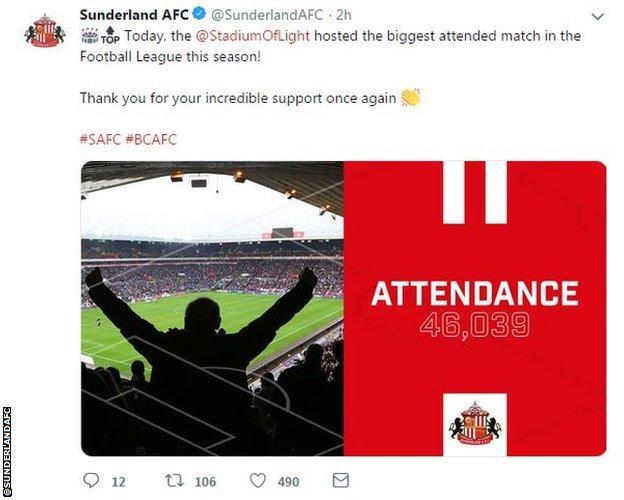 Sunderland tweet