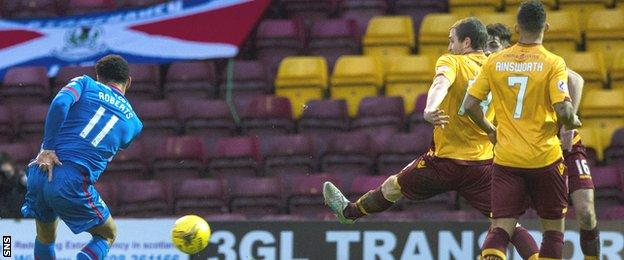 Motherwell were sunk by a superb Jordan Roberts strike for Inverness