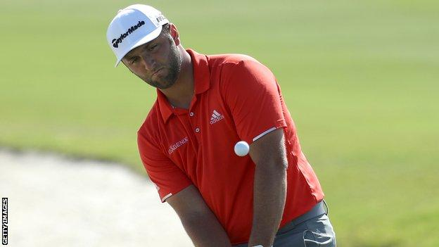 Jon Rahm in the final round at the Hero World Challenge