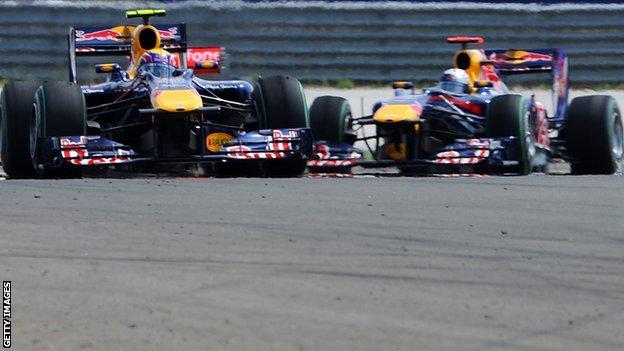 Sebastian Vettel and Mark Webber collide in Turkey in 2010