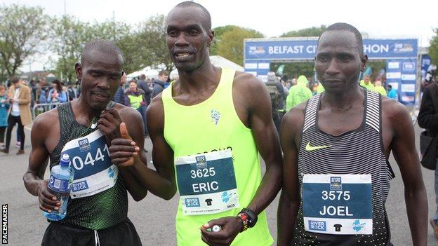 Joel Kositany clinched his fourth Belfast City Marathon win