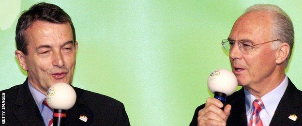 Wolfgang Niersbach and Franz Beckenbauer