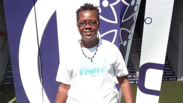 Former Cameroon international Regine Mvoue