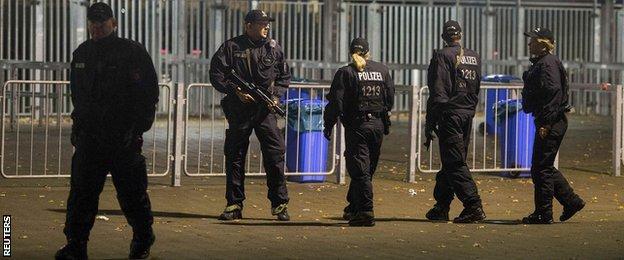 Police outside stadium