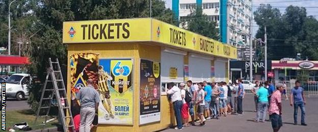 Ticket office in Almaty