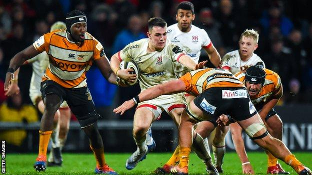 Ulster in action against the Cheetahs