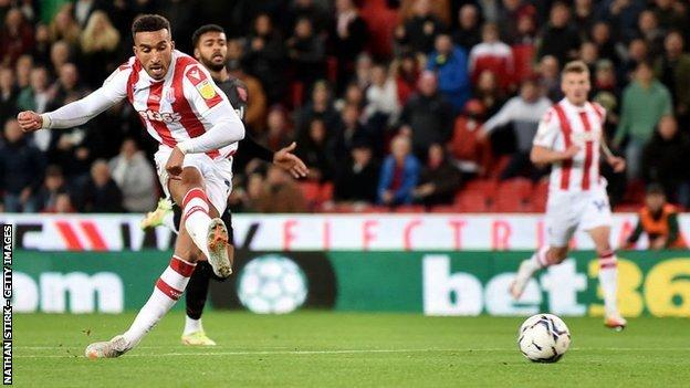 Jacob Brown's early miss was the first of two Stoke efforts against the woodwork