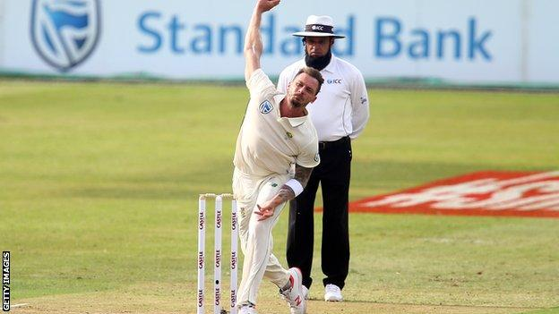 Dale Steyn bowling for South Africa