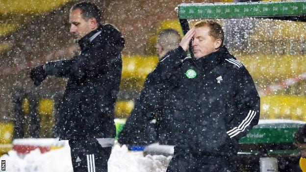 John Kennedy and Neil Lennon in the Celtic dug-out