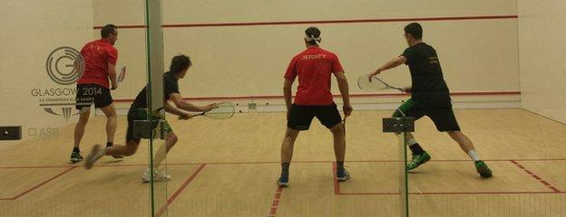 Jersey's squash players represent the Island at the last Commonwealth games in Glasgow