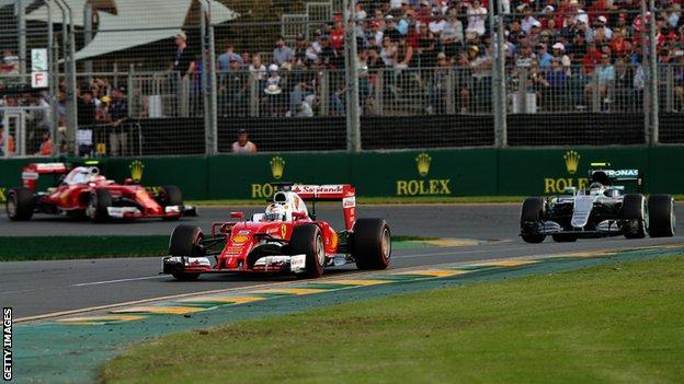 Ferrari and Mercedes