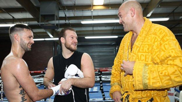 Josh Taylor, Ben Davison and Tyson Fury