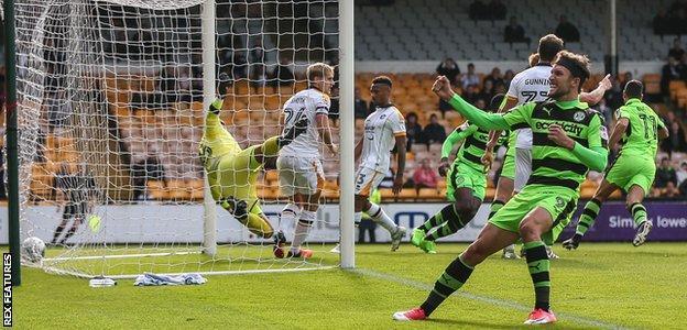 Christian Doidge scores for Forest Green against Port Vale