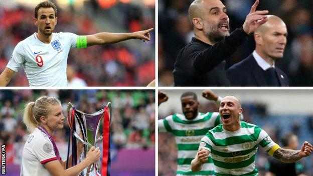 Harry Kane, Pep Guardiola, Zinedine Zidane, Ada Hegerberg, Scott Brown