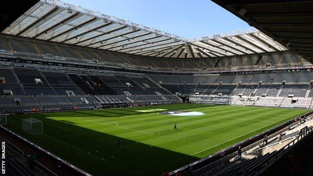 Inside view of St James' Park