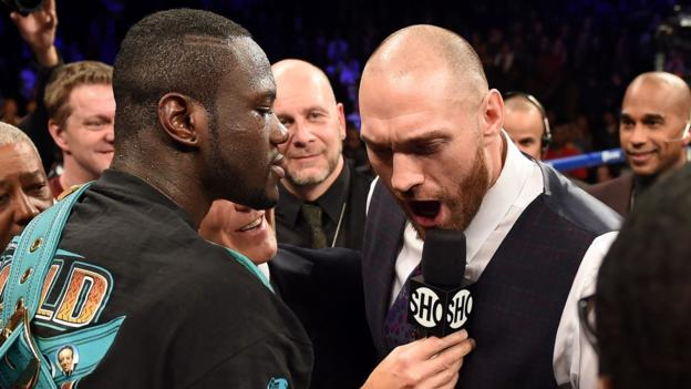 Deontay Wilder says Tyson Fury bout will 'definitely' happen this year thumbnail