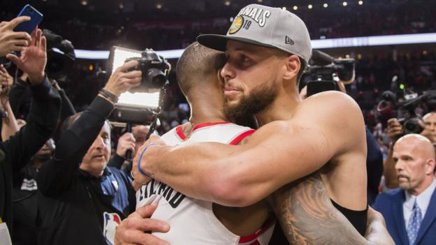 NBA play-offs: Golden State Warriors into fifth straight NBA Finals after eliminating Portland Trail Blazers thumbnail