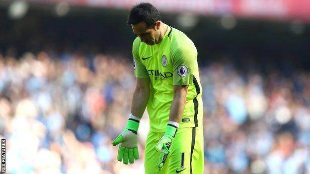 Manchester City keeper Claudio Bravo