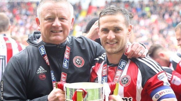 Chris Wilder and Billy Sharp