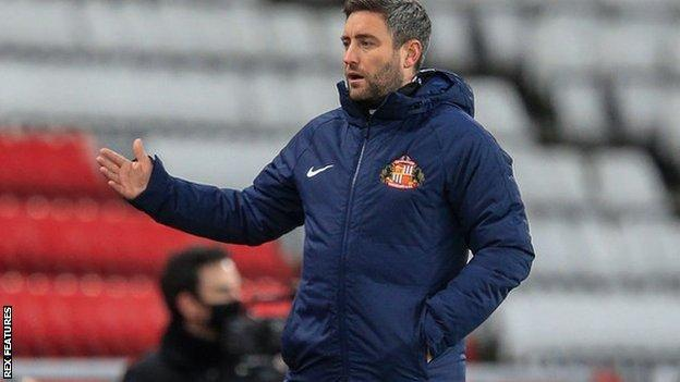 Lee Johnson was taking charge of his fourth game in 11 days since taking over over as Sunderland boss on 5 December
