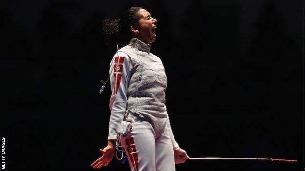 Ines Boubakri: Tunisian fencer on making history for Arab women thumbnail