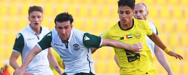 Saleh played against Hibs in January