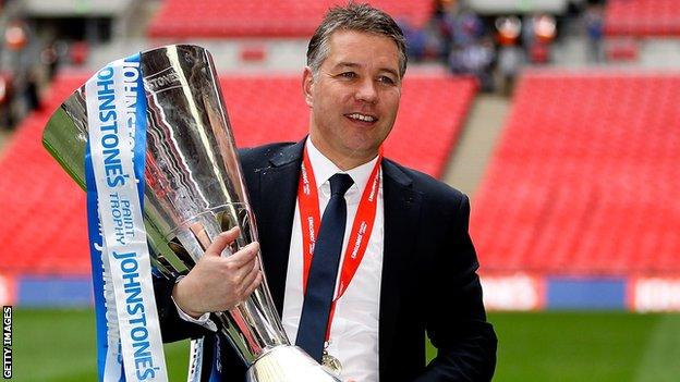 Darren Ferguson after Peterborough win the 2014 EFL Trophy